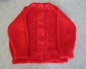 Lace Front Crayon red baby sweater