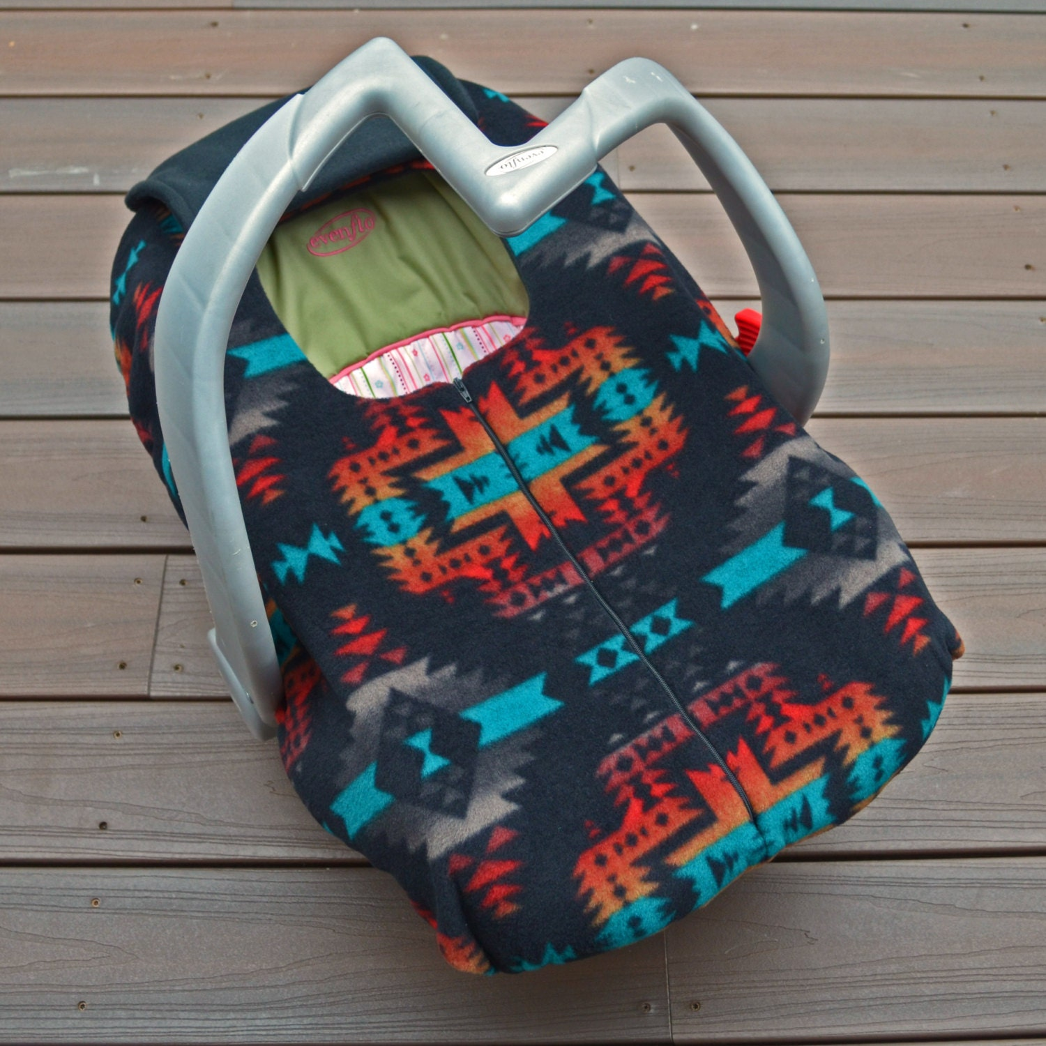 Native American Baby Car Seat Cover Southwest By Sophiemarie