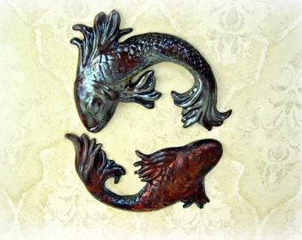 Decorative Raku Fired  Fish Wall Art i