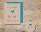Wedding Save The Dates, Save The Dates, Wedding Announcements, Modern, Simple, Vintage  - It's a Date