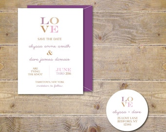 Wedding Save The Dates . Save The Dates . Wedding Announcements  - LOVE