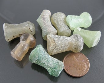 8 pieces ancient Roman glass beads 34+ grams FREE SHIP arg2682