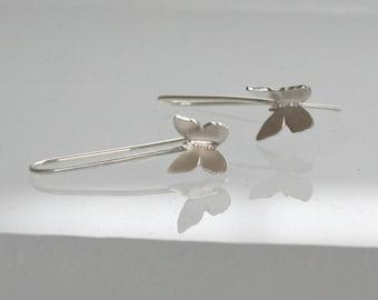 Flying Biutterflys Earrings, Silver Butterfly Earrings, Dangle Earrings, Silver Earrings, Butterfly Earrings, Butterfly Jewelry, Sterling