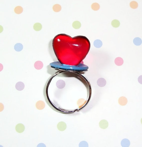 Heart Ring Pop Ring - Cherry Red - Valentine's Day