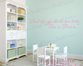 She Is Fierce William Shakespeare Quote wall decal 078