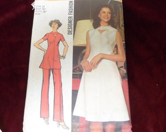 Simplicity 5009 Misses Designer Dress, Tunic, and Pants Pattern Size 14