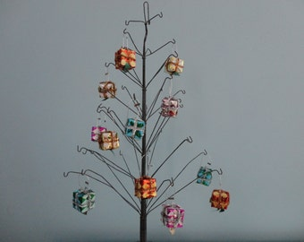 VINTAGE collection of 12 PRESENT ORNAMENTS