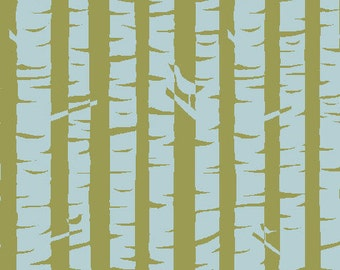 Organic Cotton Fabric, Meadow, Birches, Monaluna, by the half-yard