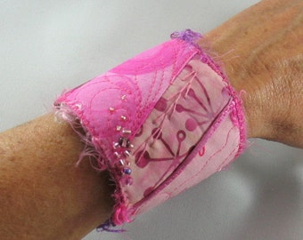 Pink Fabric Cuff