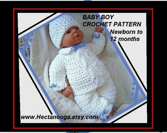 boy baby Christening outfit,  num 226, Double Breasted. Boys, newborn, 3 to 6 months, and 6 to 12 months. Pants, jacket and hat