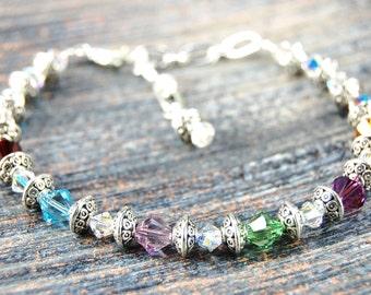 Mother's Blessings - Birthstone Bracelet - Style 1