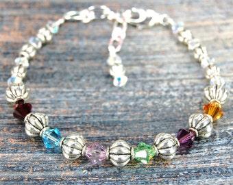 Mother's Blessings - Birthstone Bracelet - Style 3