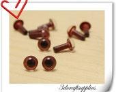 6 mm brown Safety eye amigurumi eye doll eyes cat eye 28 pieces  EB20