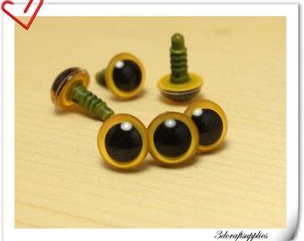12 mm yellow Safety eye amigurumi eye doll eyes cat eye 16 pieces  EB31