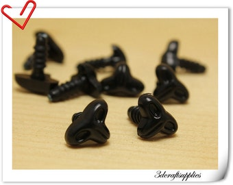 12.5 mm Safety Noses Doll Noses Toy Noses Amigurumi noses- black - 22pcs EA27