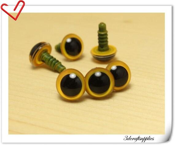 Jual Safety Eyes Amigurumi : 12 mm yellow Safety eye amigurumi eye doll eyes cat eye 16