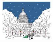 Washington DC Christmas Cards - set of 10 - ready to ship - recycled cardstock