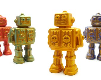 Robot In Your Pocket! , Mini Display Figure Toy in Limited Edition Tin, 4 Colors Available