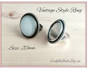 10pk...20mm...Vintage Style Adjustable Ring Trays...Mix and Match..VSRT16