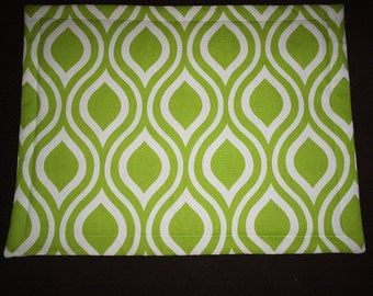 Set of 4 Nicole Chartreuse Placemats