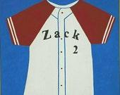 Baseball Jersey Personalized Painting