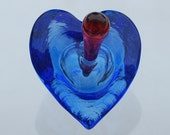 Glass Heart Perfume Bottle
