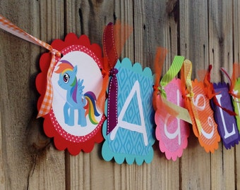Whimzical Name Banner- Rainbow Dash