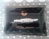 Vintage 1967 Souvenir Collectible Black Glass Tray From Daly City CA City Hall Dedication