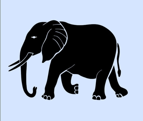 ELEPHANT STENCIL SAFARI stencils template templates craft pattern ...