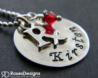Personalized Pharmacist Necklace, Handstamped, Pharmacy technician, RX, Prescription, medical necklace, by RosesDesigns