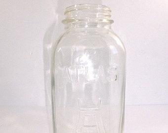 Vintage Atlas Square Canning Jar - Half Gallon, H over A