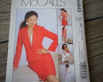 McCalls 4843 Sewing Pattern Womens Halter Top Jacket Skirt Pants Size 6 - 8 - 10 - 12  UNCUT