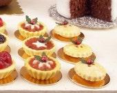 Mince Tartlet - Dollhouse Miniature Christmas Food Handmade