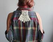 Earthy Boho Plaid Crochet...