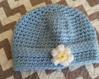 Baby Blue Daisy Hat
