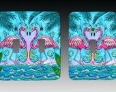 Flamingo Love, Switchplate, Lightswitch Cover, Lightswitch Plate, Switch Plate