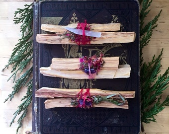 Triple Pack of Palo Santo Smudge Bundles.