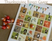 8 Thanksgiving Bingo-A Thanksgiving Day Activity for the Kids- Thanksgiving Kids Table