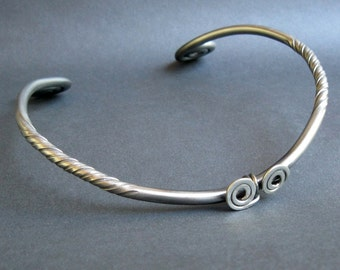 Iron and Silver Torc Tourque Reenactment Celtic Iron Age