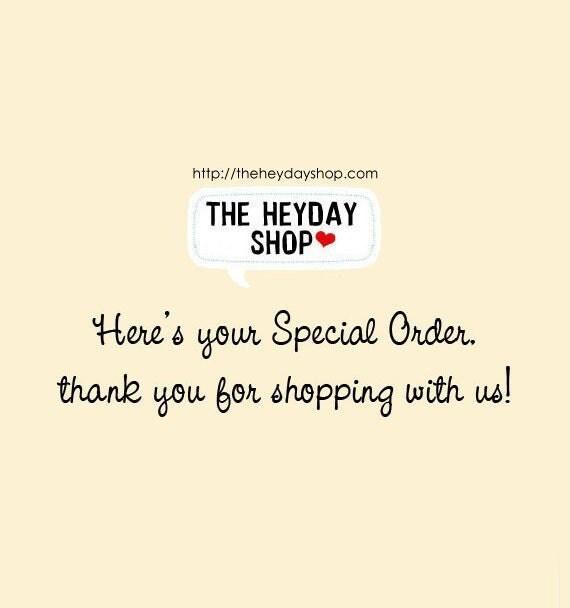 Special Order for efh1687