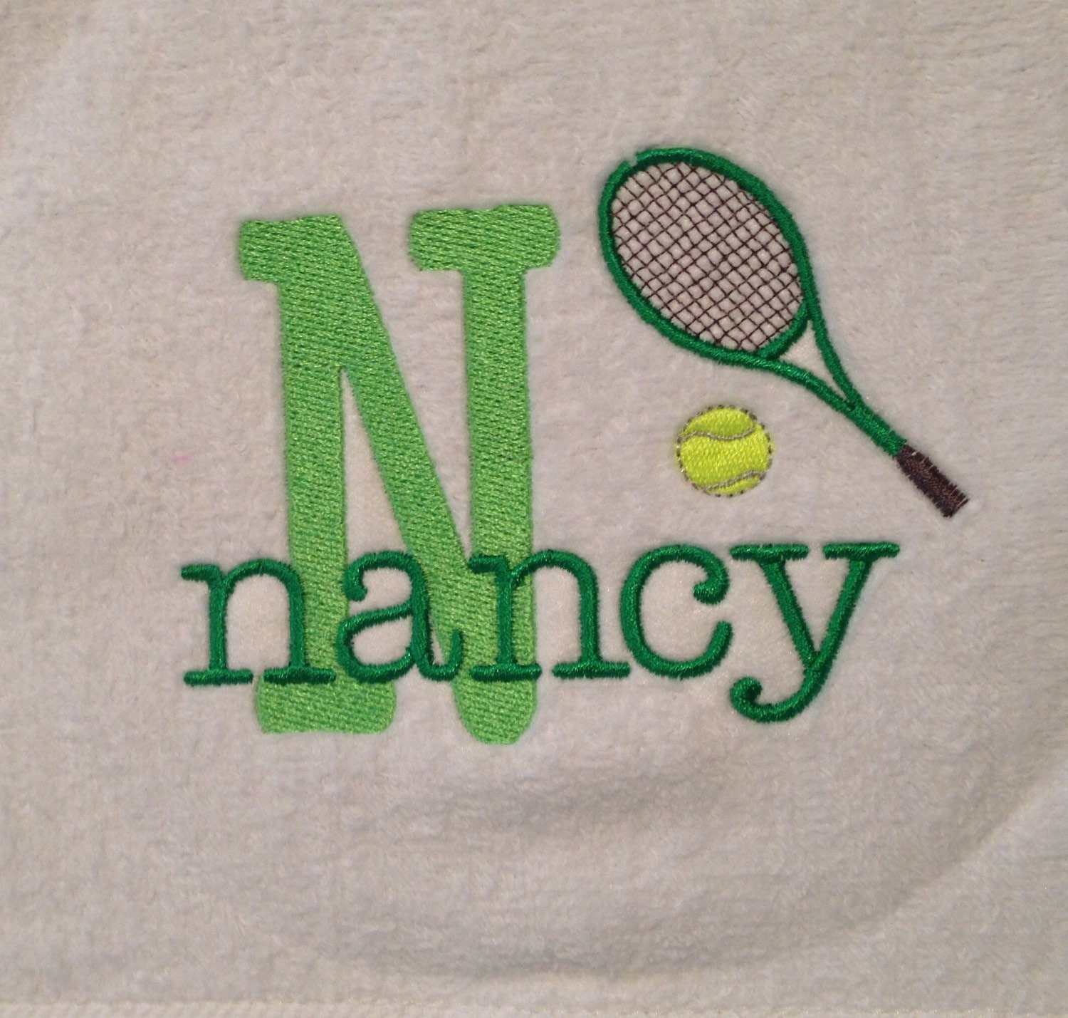 Personalized Tennis Racquet Sports Towel
