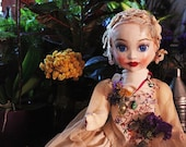 Miss Spring Joy, Papier mache art doll - OOAK