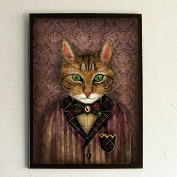 Art Print - Poster - Sir Harold and His Mouse Betty by MinaSmoke steampunk buy now online