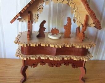 Mother Mary, Baby Jesus and Joseph music box