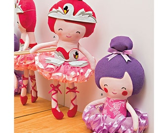 BALLERINA DOLL PATTERN / Pretty Ballerina Toys for Play and Room Decor