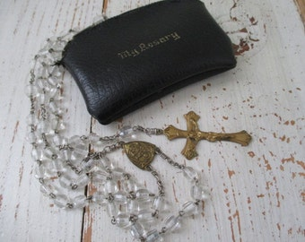 ANTiQuE CZECHSLOV RoSaRY & LeaTHeR CaSe