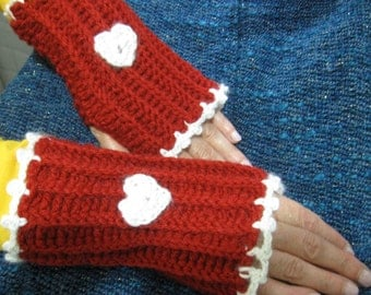Hearted Red Gloves