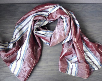 Silk  wrap shawl in raspberry and pink stripes or more colors.