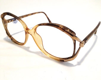 Vintage glasses retro glasses dior glasses designer glasses Yellow glasses Gold glasses oversized Glasses vintage Frames christian dior