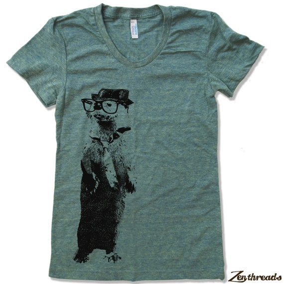 Womens River OTTER T Shirt american apparel S M L XL (16 Colors Available)